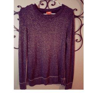 JOE FRESH Black & Gold Metallic Sweater